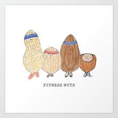 fitness nuts Art Print
