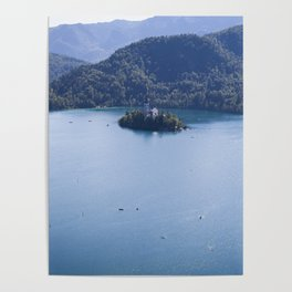 Island on the Lake Poster