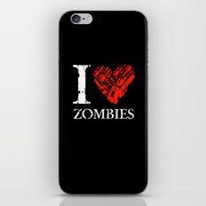 I Love Zombies (I love New York parody) Chainsaw 2nd Version iPhone & iPod Skin