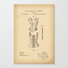 1879 Patent Corset Canvas Print