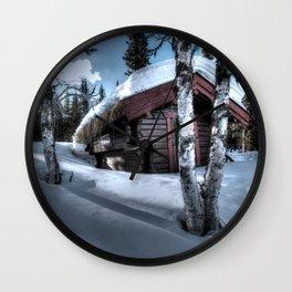 Paesaggio sulla neve Wall Clock