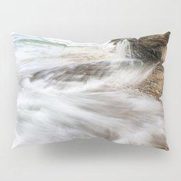 Elliot Falls on Miners Beach - Pictured Rocks, Michigan Pillow Sham