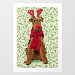 Rudolph the Welsh Terrier Art Print