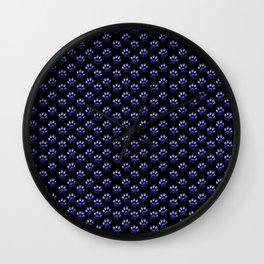 Blue GalaxyPaw Print Wall Clock