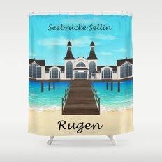 Seebrücke Sellin Shower Curtain