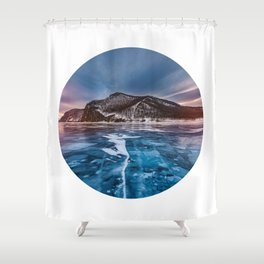 Snow Mountain No1 Shower Curtain
