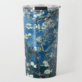 Van Gogh Almond Blossoms : Ocean Blue Travel Mug
