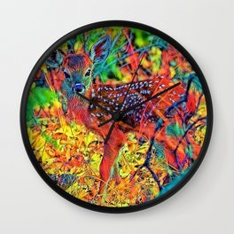 AnimalColor_Deer_001_by_JAMColors Wall Clock