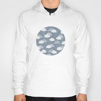 clouds Hoodies featuring RAIN CLOUDS by Daisy Beatrice