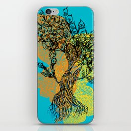 peacock tree iPhone Skin