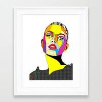 model Framed Art Prints featuring Model by Floridana Oana
