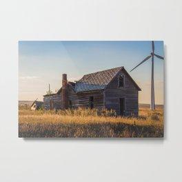 Falling Farm House, North Dakota 14 Metal Print