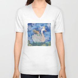 Girl on swan (Submerge) Unisex V-Neck
