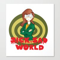 daria Canvas Prints featuring Daria by Manu Cafferini