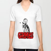 rick grimes V-neck T-shirts featuring Walking Dead - Rick GRIMES  by High Design