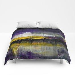 Purple Abstract Landscape Comforters