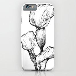 Black&White Calla Lily iPhone Case