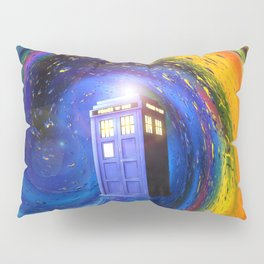 Tardis Doctor Who Fly into Time Vortex Pillow Sham