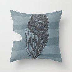 Hot Owl Balloon Throw Pillow