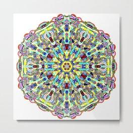 Beautiful Chrystal Glass Mandala Metal Print