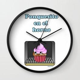 Ponquesito en el horno/ Cupcake in the oven Wall Clock