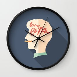Love Coffee Head Wall Clock