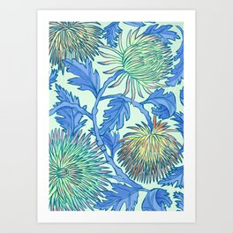 Moonlit Chrysanthemum Art Print