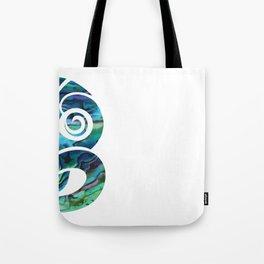 Tiki White Tote Bag