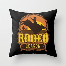 Rodeo Season Throw Pillow