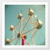 ferris wheel Art Prints featuring Ferris Wheel by Cassia Beck