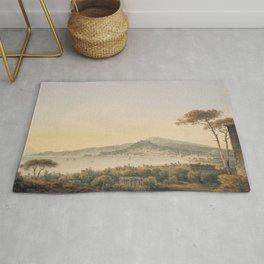 Naples From Sir William Hamilton's Villa, 1780-1782 by John Warwick Smith Rug