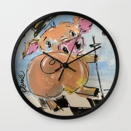 Pig Jig Wall Clock