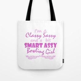 Sassy Bowling Girl Tote Bag