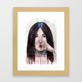 Nosebleed Framed Art Print