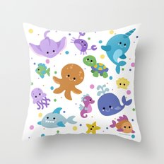 Ocean Cuties Throw Pillow