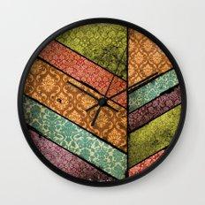 Vintage Material Chevron Wall Clock