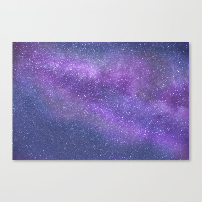 Deep Purple Milky Way Stars Canvas Print