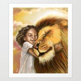 Lion's Kiss Art Print