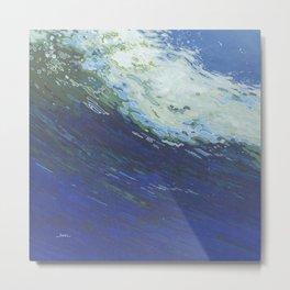Flexing Ocean Wave Metal Print
