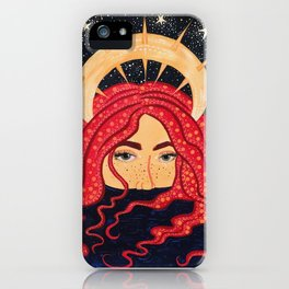 floating goddess iPhone Case