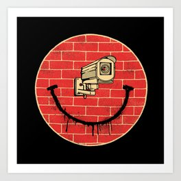 SMILE BIG BROTHER IS WATCHING Art Print