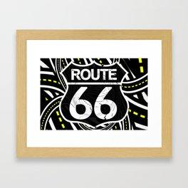 An Infinite Fractal Road on the Legendary Route 66 Framed Art Print