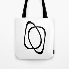 Interlocking Two - Minimalist Line Abstract Tote Bag