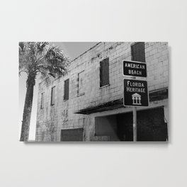 American Beach Sign Metal Print