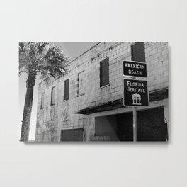 American Beach Sign Metal Print