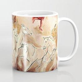 Imagined dream horses children dancing painting Coffee Mug