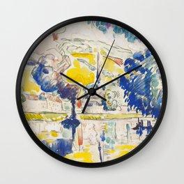 """Paul Signac """"Les Andelys"""" Wall Clock"""