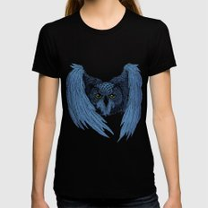 Night Owl SMALL Womens Fitted Tee Black