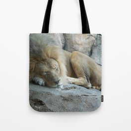 Sleeping Lion Tote Bag