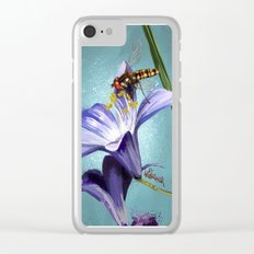 Wasp on flower 11 Clear iPhone Case